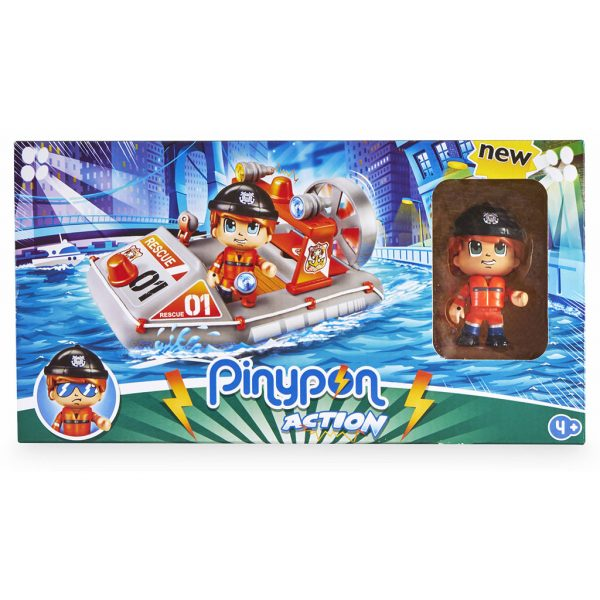pinypon lancha rescate