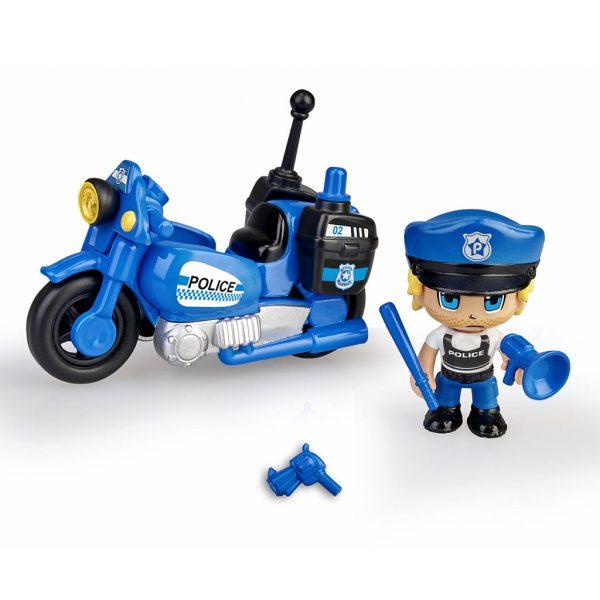 Juguete PinyPon Moto policia